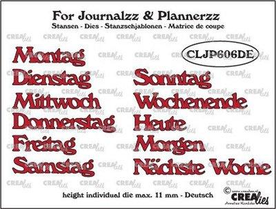 Crealies Journalzz & Plannerzz - Dies: Weekdays DE