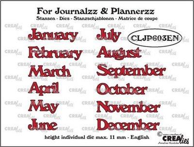 Crealies Journalzz & Plannerzz - Dies: Months EN