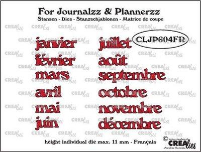 Crealies Journalzz & Plannerzz - Dies: Months FR