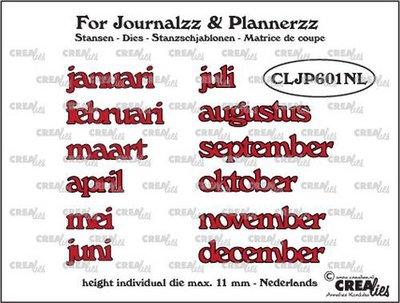 Crealies Journalzz & Plannerzz - Dies: Months NL