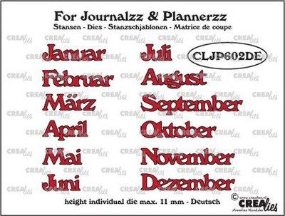 Crealies Journalzz & Plannerzz - Dies: Months DE
