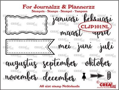 Crealies Journalzz & Plannerzz - Stamps: Months NL