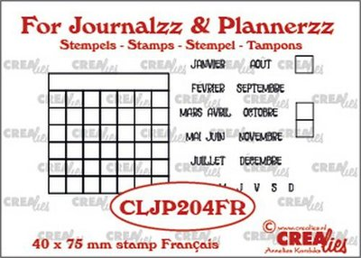 Crealies Journalzz & Plannerzz - Stamps: Monthly Tracker FR