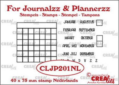 Crealies Journalzz & Plannerzz - Stamps: Monthly Tracker NL