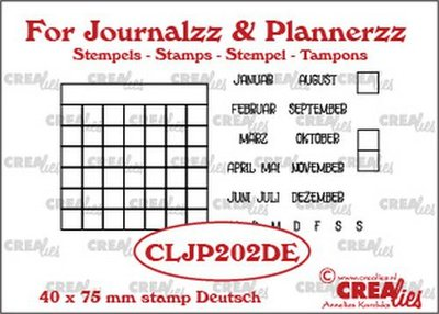 Crealies Journalzz & Plannerzz - Stamps: Monthly Tracker DE