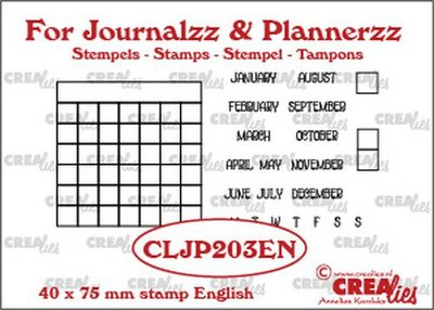 Crealies Journalzz & Plannerzz - Stamps: Monthly Tracker EN
