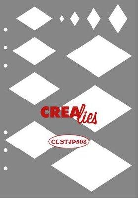 Crealies Journalzz & Plannerzz - Stencil: Decoration Diamonds