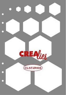 Crealies Journalzz & Plannerzz - Stencil: Decoration Hexagons