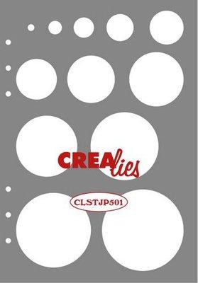 Crealies Journalzz & Plannerzz - Stencil: Decoration Circles