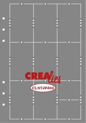 Crealies Journalzz & Plannerzz - Stencil: Journaling Weekly Page A