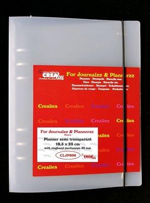 Crealies Journalzz & Plannerzz - Planner semi transparent CLJP898