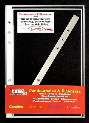 Crealies Journalzz & Plannerzz - Dies: Journaling/Planner page + layer up