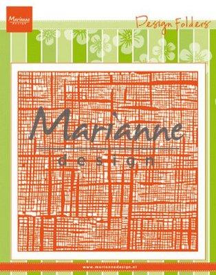 Marianne Design Embossing Folder - Linnen DF3453