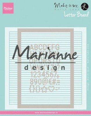 Marianne Design Embossing Folder - Karin Joan's Letter Board DF3454