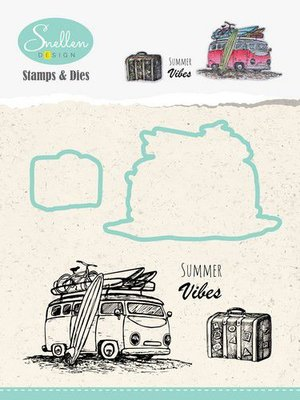Nellie's Choice Holiday Die Cut & Clearstamp - Bus HDCS002