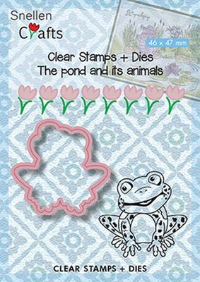 Nellie's Choice Die & Stamp - The Pond Frog SNCCS001