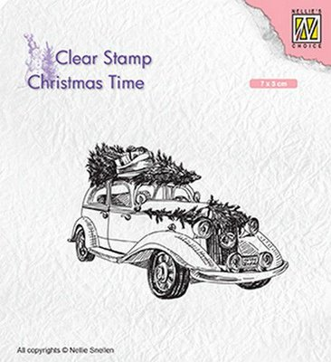 Nellie's Choice Clearstamp Christmas Time - Christmas tree Transport CT031