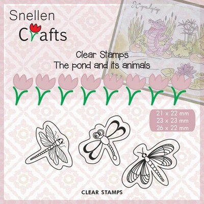 Nellie's Choice Clearstamp Pond Life - Butterflies CLP005