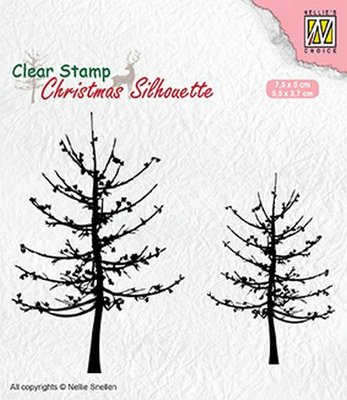 Nellie's Choice Clearstamp Silhouette - Leafless Trees CSIL010