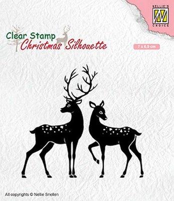 Nellie's Choice Clearstamp Silhouette - Deer CSIL006
