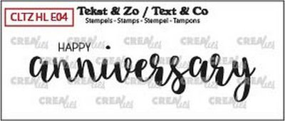 Crealies Text & Co - Handlettering 4 - Happy Anniversary