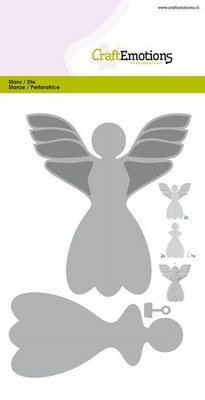 CraftEmotions Die - Angel Decoration 3D 115633/0515