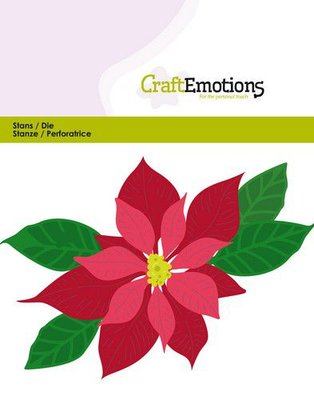 CraftEmotions Die - Poinsettia 115633/0432