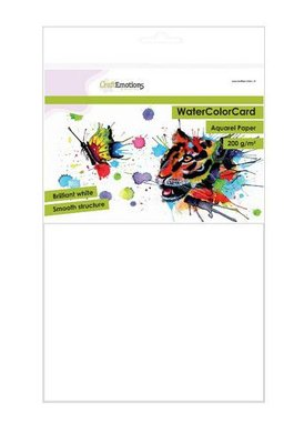 CraftEmotions Watercolour Card - Brilliant White 200 gsm