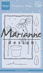 Marianne Design Stamp - Marjoleine's Daisies MZ1903