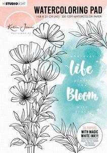 Studio Light Watercoloring Pad A5 - Karin Joan Blooming Collection nr. 1