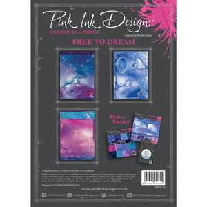 Creative Expressions Rice Paper - Pink Ink Free to Dream