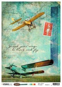 Studio Light Rice Paper - Just Lou Aviation no. 13