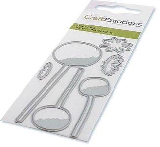 CraftEmotions Die - Poppy Bulbs