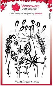 Creative Expressions Woodware Clear Stamp A6 - Wild Garden
