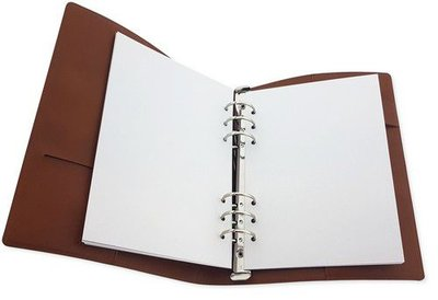 CraftEmotions Planner A5 - Cognac Brown Leather
