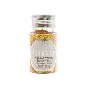 Nuvo Pure Sheen Confetti - Sunset Yellow Butterflies 1069N